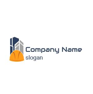 Société de construction ? Voici un exemple de logo design travaux de construction immeuble gratuit.