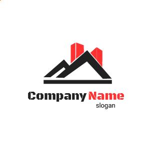 Entreprise générale de bâtiment ? Voici un exemple de logo entreprise batiment travaux btp gratuit.