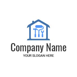 Entreprise de rénovation et de construction ? Voici un exemple de logo design travaux dépannage.