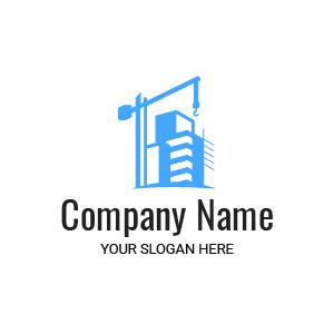 Société de bâtiment ? Voici un exemple de logo design travaux chantier matériel grue gratuit.
