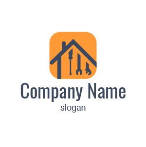 Société de rénovation ? Voici un exemple de logo design travaux renovation batiment gratuit.