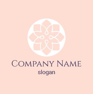 Créer sa marque de cosmétique : voici un logo cosmétique nature, couleur en dégradé de rose.
