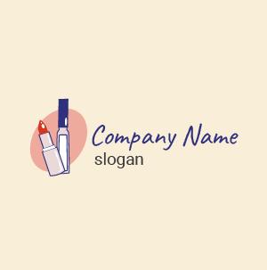 Logo inspiration beauté make-up : créer un logo design rouge à lèvres, style élégant.