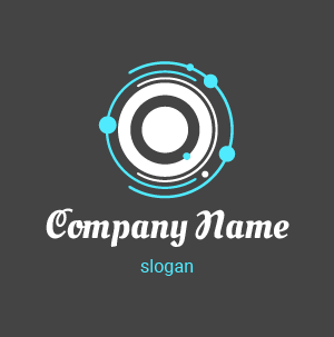 Logo agence de communication : logo cercle, gradient de couleurs rose et jaune.