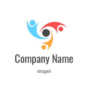 Logo agence de com : logo circulaire illustrant un cercle d'échanges et de partages.