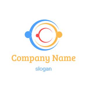 Logo agence de com en cercle : la communication interne et externe au service de votre entreprise.