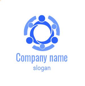 Logo entreprise de communication : confiez-nous votre stratégie de communication. Logo réunion.