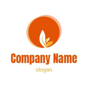Logo environnement : exemple de logo dégradé de cercles qui se superposent avec une plante.