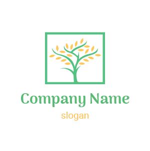 Logo développement durable : logo arbre, tronc, racines, branches et feuilles, vert et bleu dégradé.