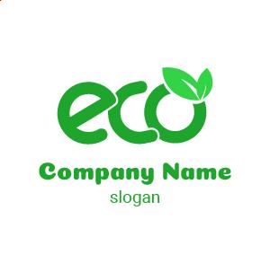 Logo écologie : logo feuille comportant la mention ECO pour économique, logo vert avec la lettre e.