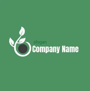 Logo écologie : logo plante avec des racines, logo vert symbole de protection de l'environnement.