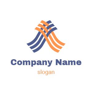 Logo abstrait : exemple de logo pour cabinet d'expertise comptable et de commissariat aux comptes.