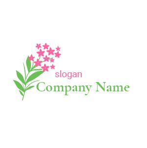 Logo inspiration fleur de lilas : inspirez-vous de ce modèle de logo fleur violette de lilas.