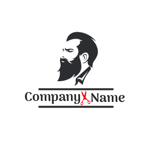 Barber shop logo: Diseños de logos de barber shop. Logo de barba de hombre.