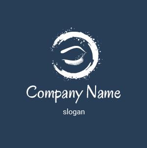 Logo de un ojo: dibujo de logotipos de pestañas y cejas.