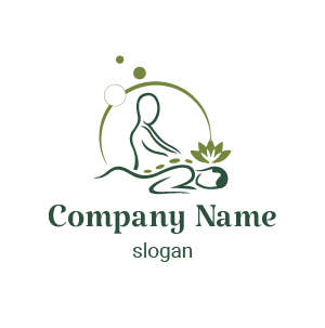 Logo de quiromasaje: Aquí un logo logo centro de masajes. Logos para spa y belleza.