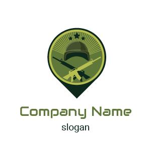 Logo para videojuegos: Aquí está un ejemplo de logo de guerrero-militar.