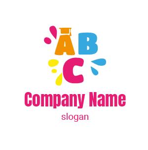 Plantillas de logos de inglés para niños. Aprendizaje de inglés para niños.