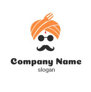 Como hacer un logo para negocio: diseño de indian restaurant logo.