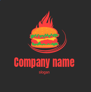 Como crear un logo gratis: logos para restaurantes de comida rapida. Hamburger restaurant logos.