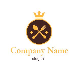Creador de logos de comida: restaurantes gastronómicos de lujo. Logo restaurant gastronomique.