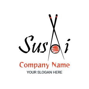 Logos de comida: sushi restaurant logo, diseños de logos de comida japonesa.