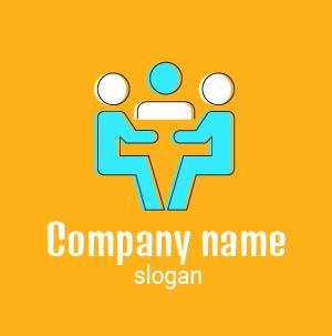 Logo reunion: diseño de logo para agencia de comunicación y publicidad.