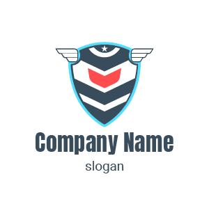 Design de logo bouclier stylé : exemple de logo sécurité pour société de sécurité.