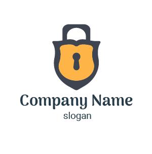 Design de logo cadenas stylé : exemple de logo sécurité pour entreprise de sécurité privée.