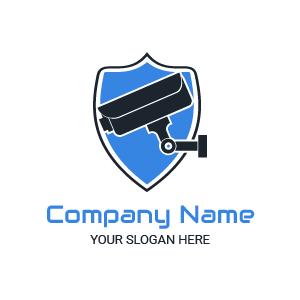 Design de logo camera : exemple de logo sécurité pour entreprise de sécurité, avec un badge stylé.