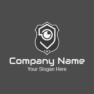 Design de logo oeil stylé : voici un logo sécurité pour votre société de gardiennage et de sécurité.