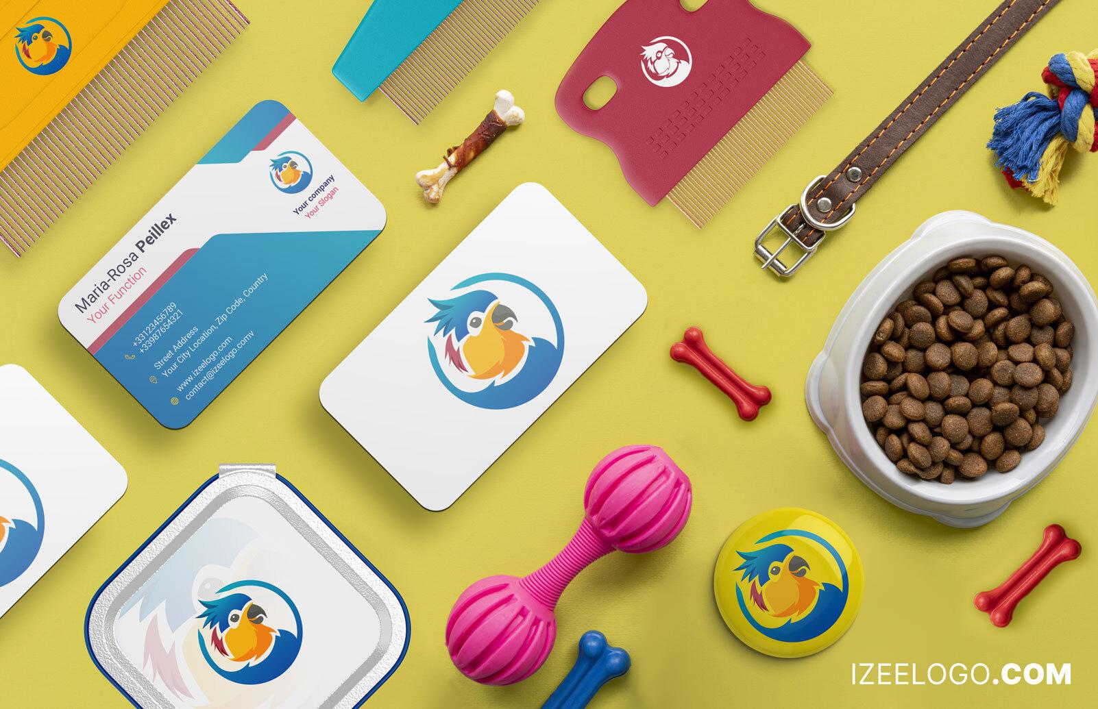 Mockup: crear una maqueta de logo animal para tarjeta de presentación.