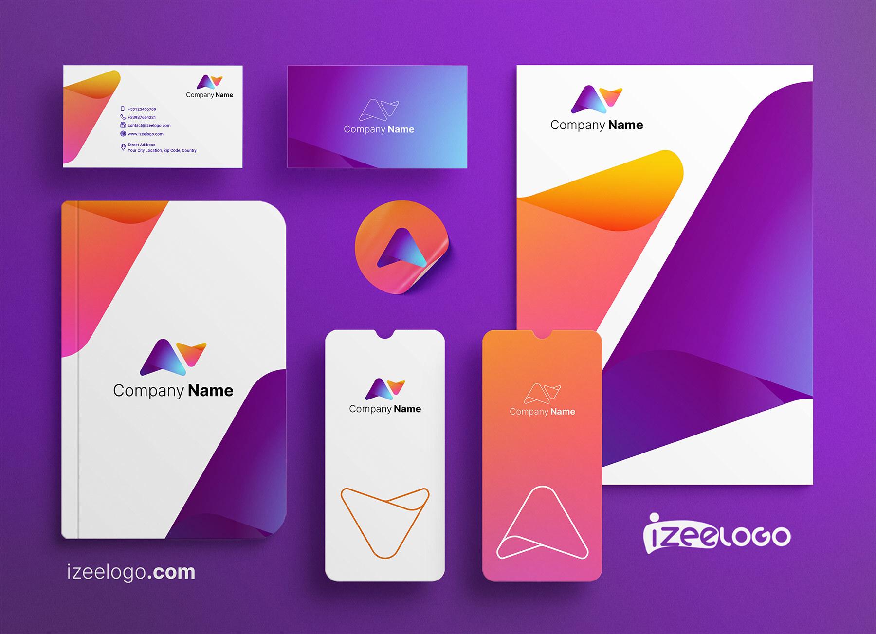 Vous souhaitez bâtir votre identité visuelle ? Logo communication sur un Mockup pour agence de com.