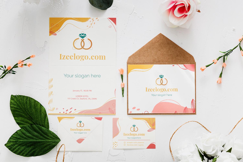 Vous souhaitez bâtir votre identité visuelle ? Logo mariage : voici un Mockup pour votre marque.