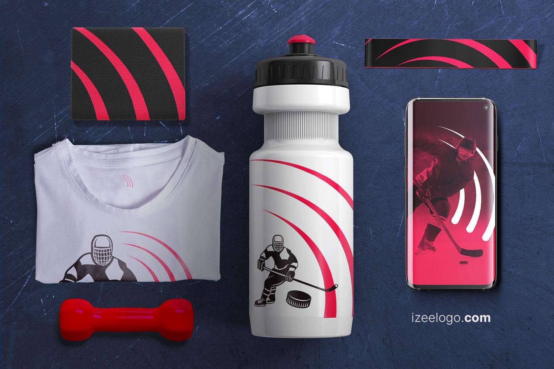 Branding, organización o equipo deportivo: diseños de logos y tarjetas de presentación de deportes.