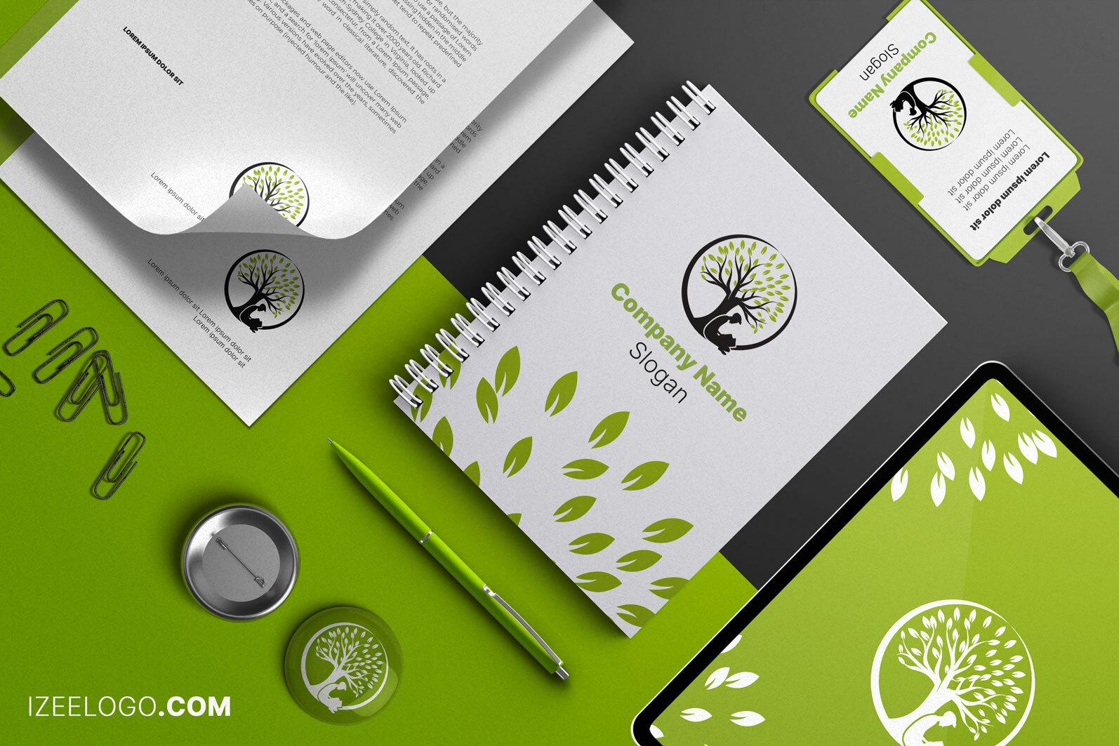 He aquí una maqueta para logos de escuelas para tarjeta de presentación.