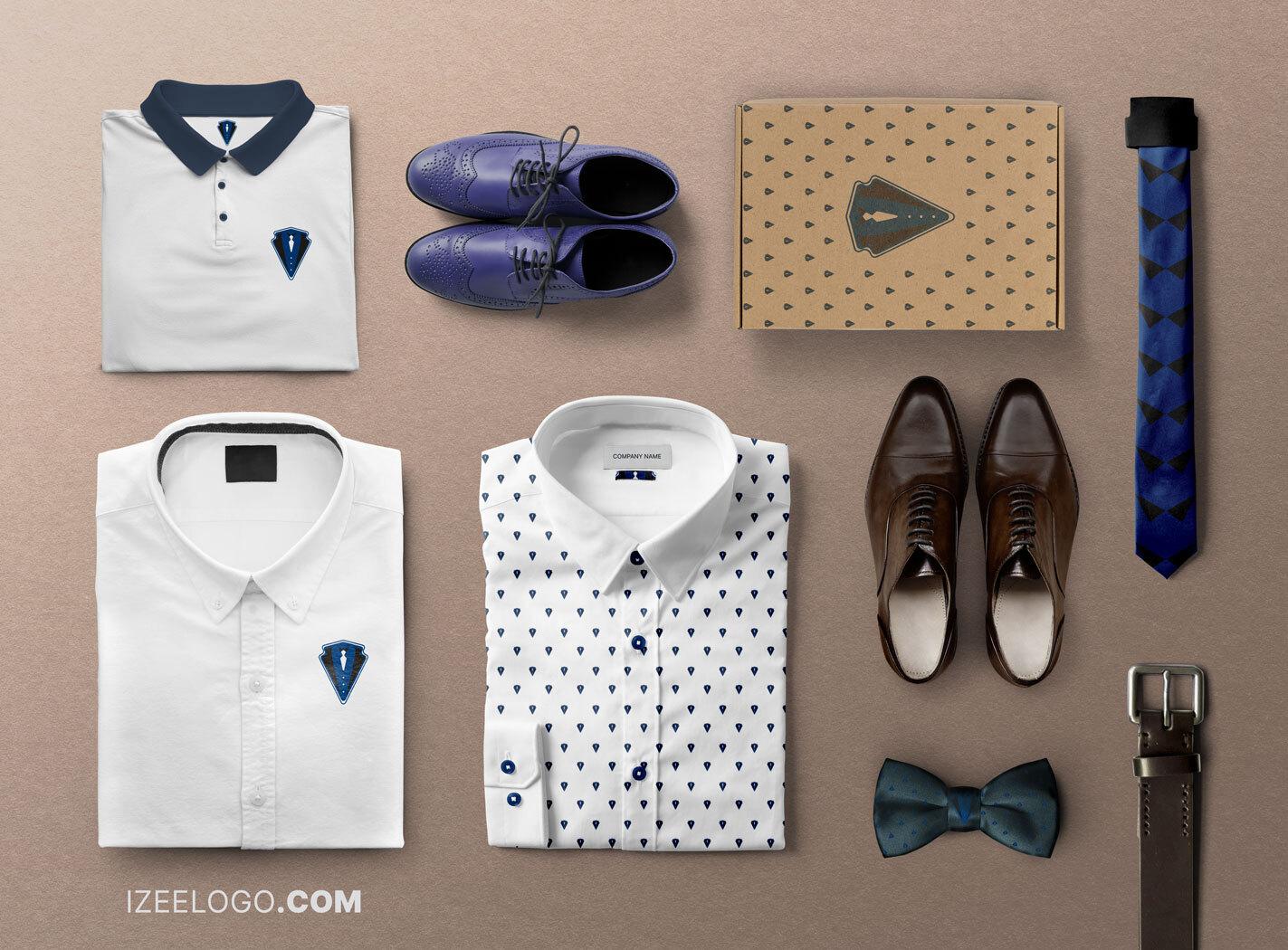 Identidad visual corporativa: diseño de logo de moda y textil para tarjeta de presentación y mockup.