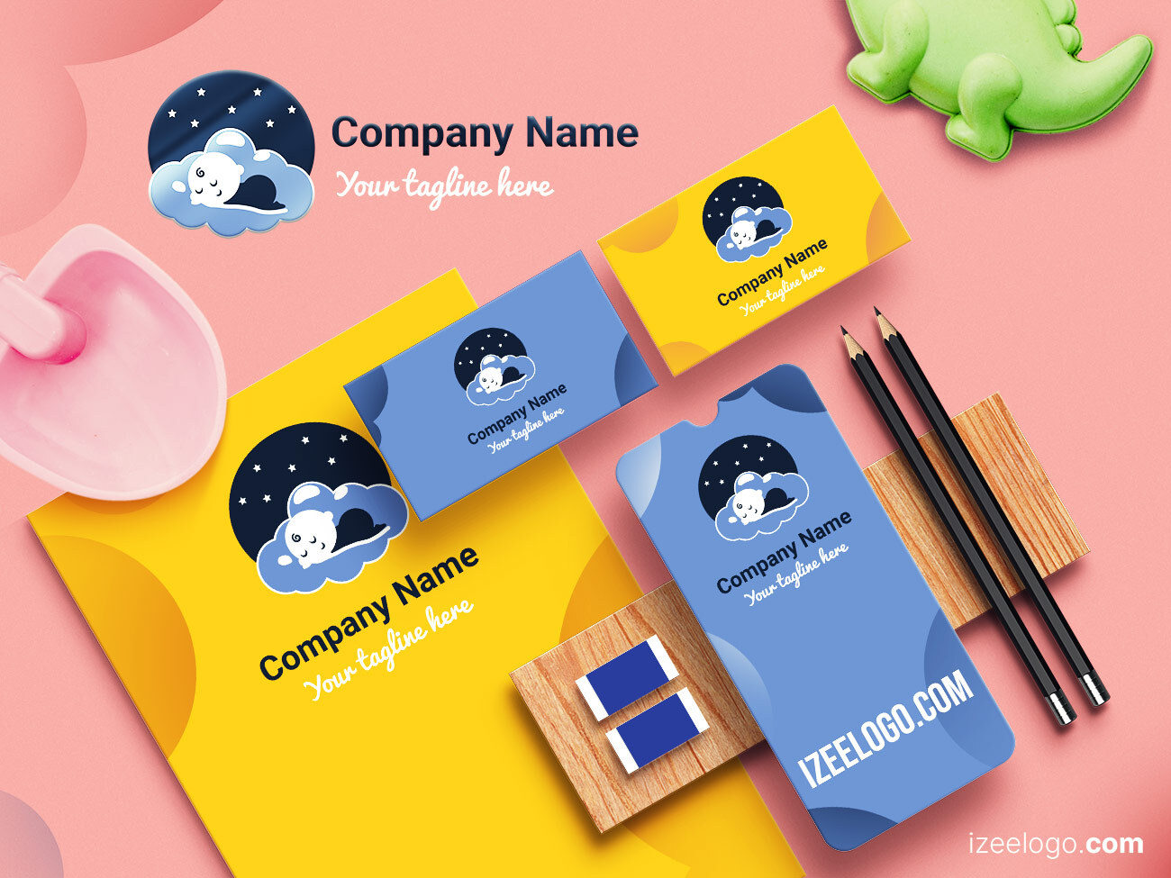 Branding de guardería: Crea tu logo de guardería. Diseño de logos originales, modernos y creativos.