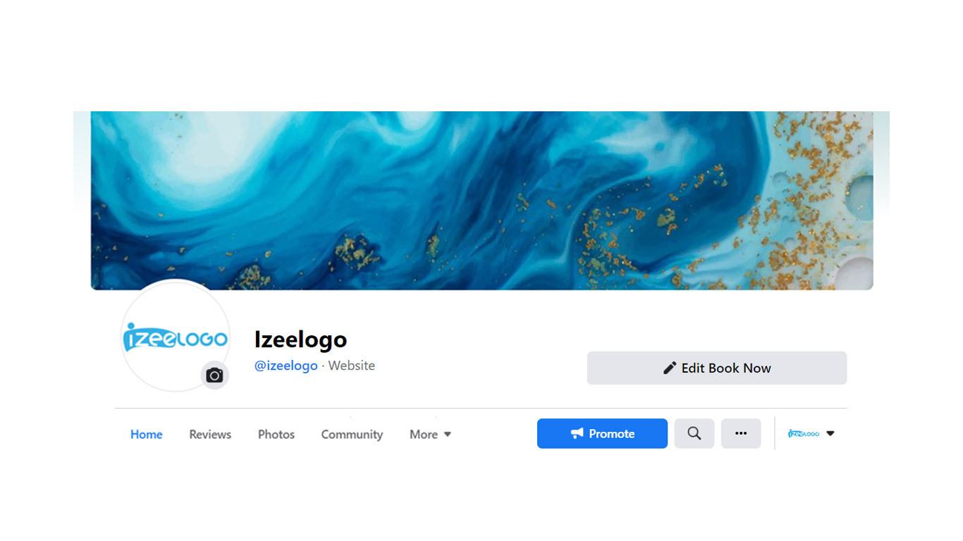 Insérez un logo Facebook PNG sur votre page pro Facebook.