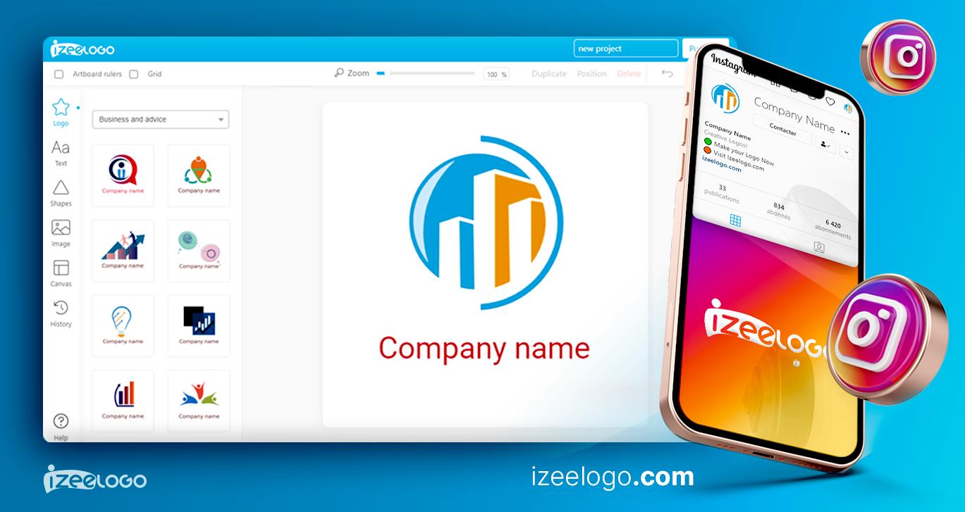Utilisez Izeelogo pour créer un logo Instagram vector