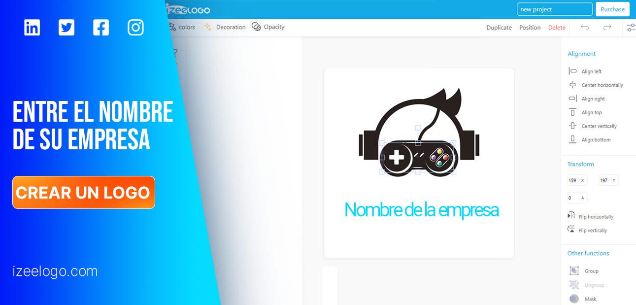 Crea un logo profesional con nuestro creador de logos. Entra el título de tu empresa