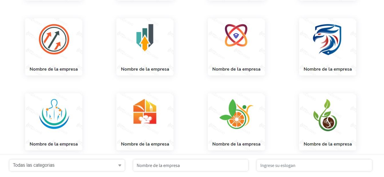 Diversos plantilla de logos disponibles en el catálogo Izeelogo