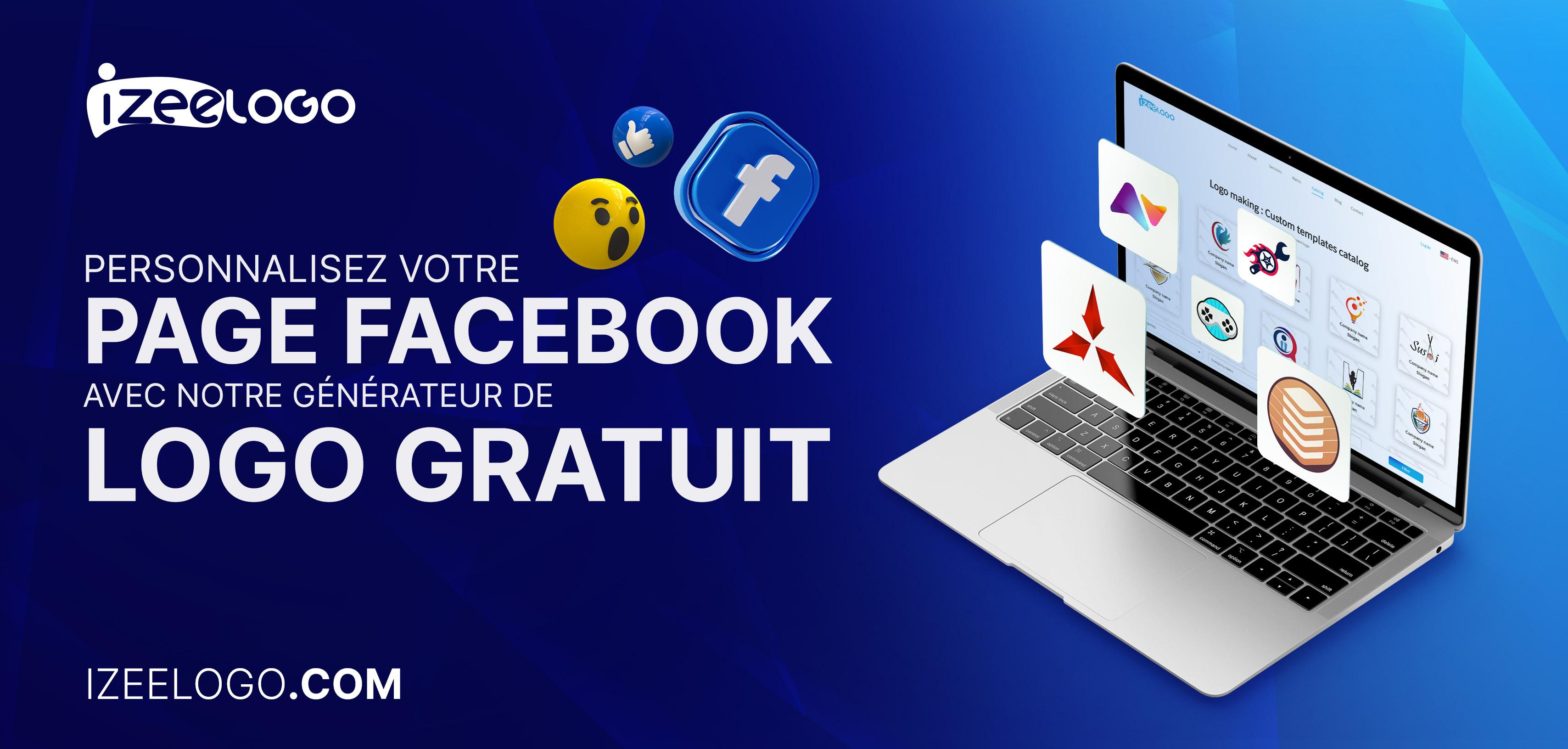 Personnalisez votre page Facebook avec notre générateur de logo gratuit.