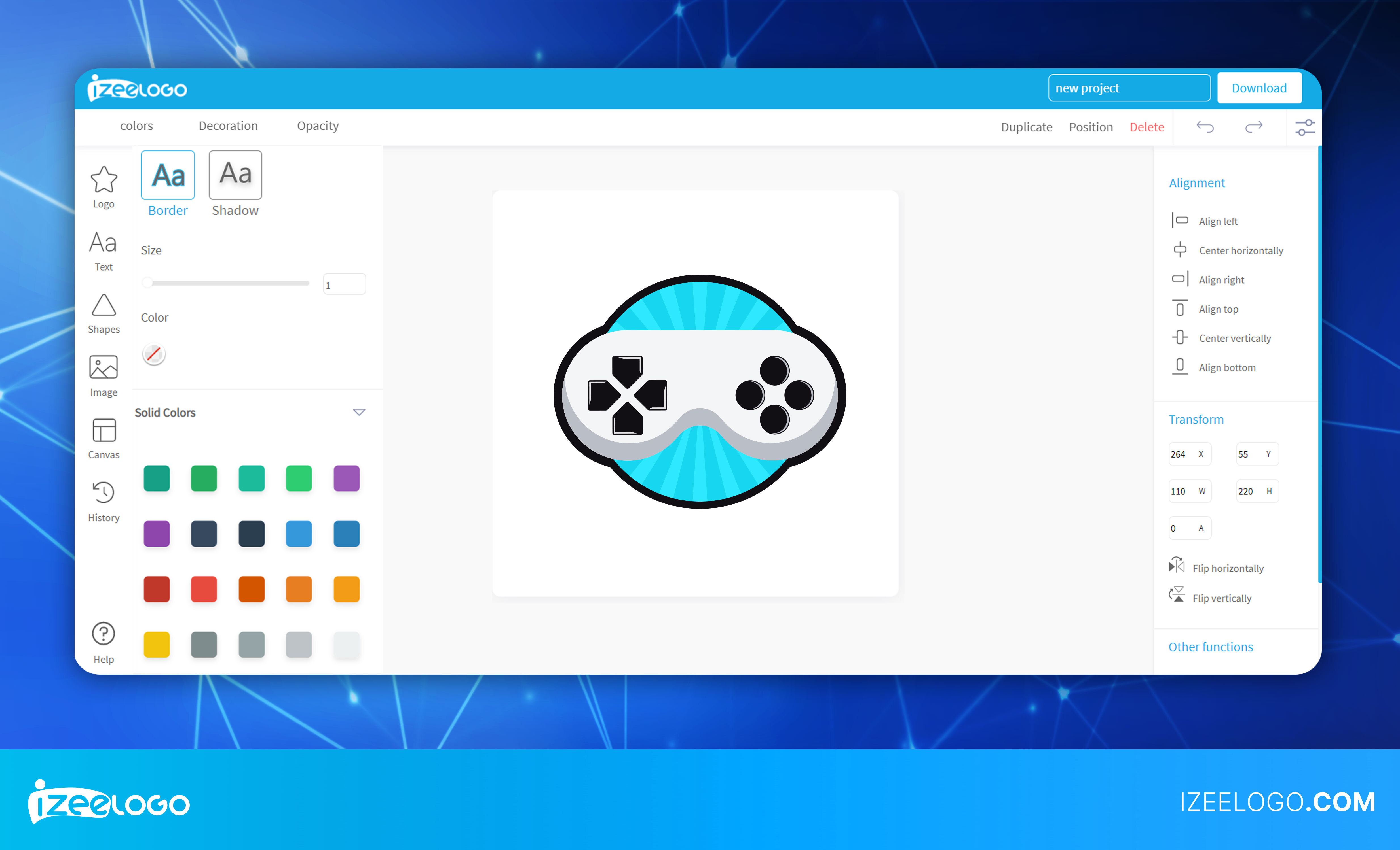 Grâce à Izeelogo, le créateur de logo en ligne, obtenez votre logo personnalisé au format vectoriel.