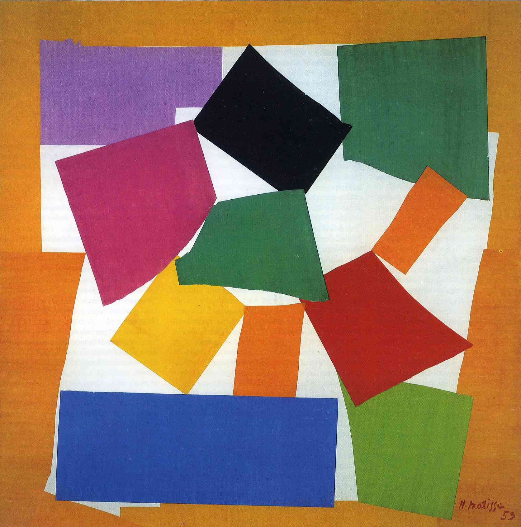 henri-matisse-the-snail-1953