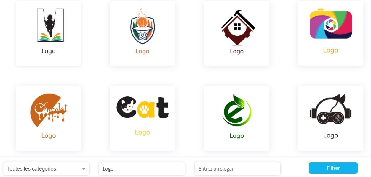 Divers modèles de logos disponibles dans le catalogue Izeelogo
