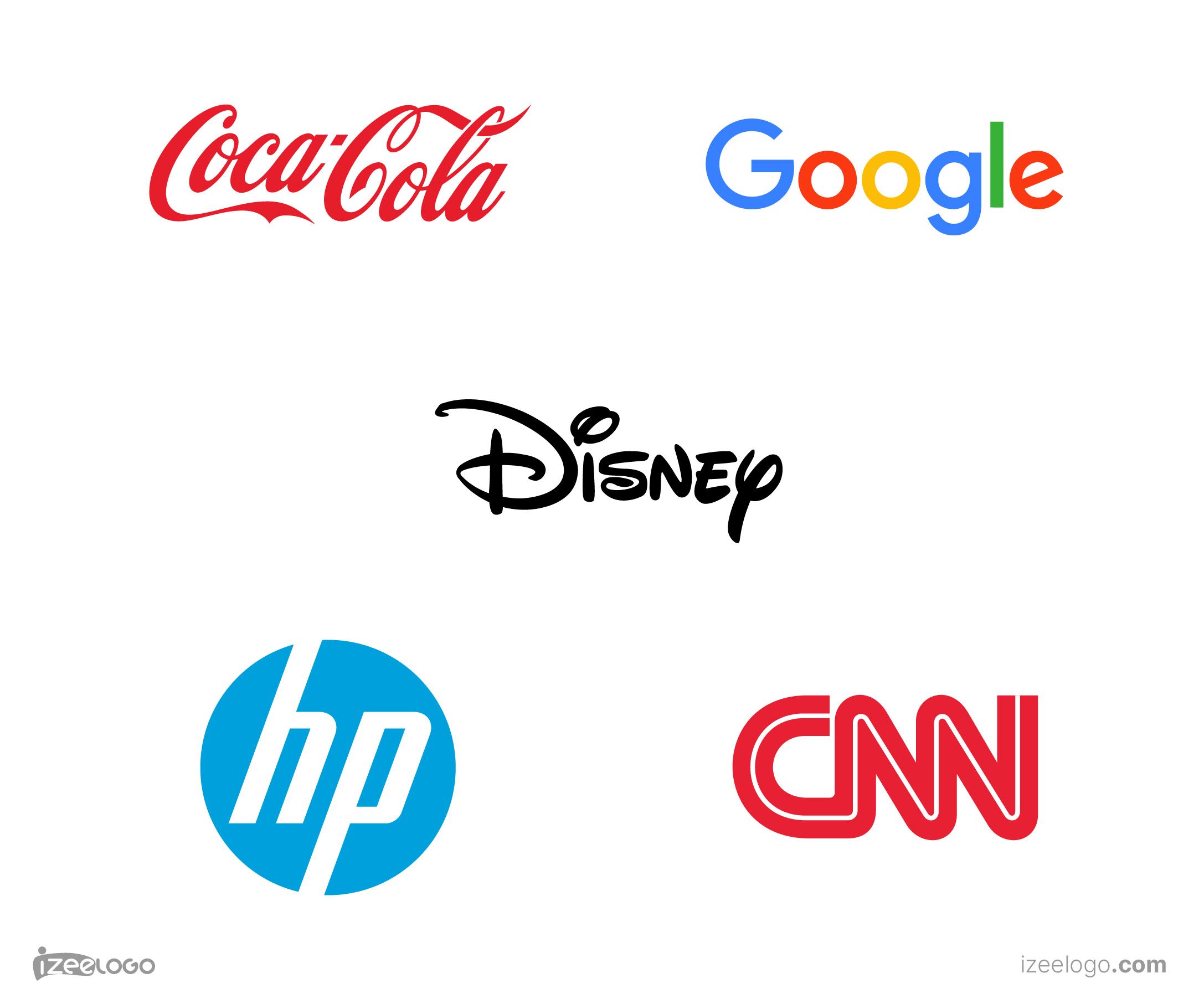 Los mejores logos de logotipo: logo Coca cola, logo Google, logo Disney, logo CNN, Logo hp